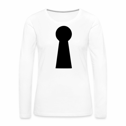 Schlüsselloch - Frauen Premium Langarmshirt