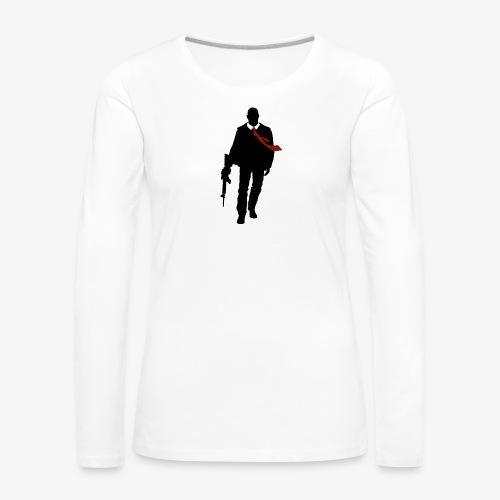 PREMIUM SO GEEEK HERO - MINIMALIST DESIGN - T-shirt manches longues Premium Femme