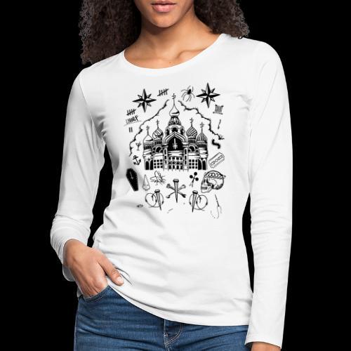 RVSSIAN II - Maglietta Premium a manica lunga da donna