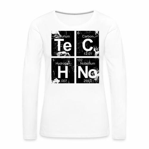 Dark Techno Elemente Black & White Paranoid Rave - Frauen Premium Langarmshirt