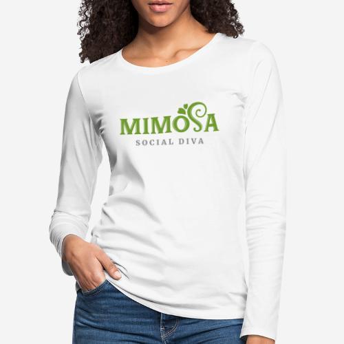 mimosa social diva - Frauen Premium Langarmshirt