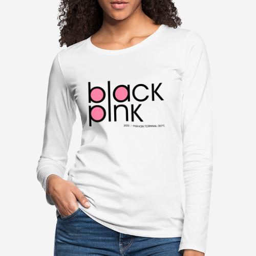 schwarzer rosa Modestil - Frauen Premium Langarmshirt