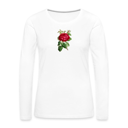 Fin ros - Långärmad premium-T-shirt dam