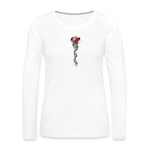 Barbwired Heart 2 - Herz in Stacheldraht - Frauen Premium Langarmshirt