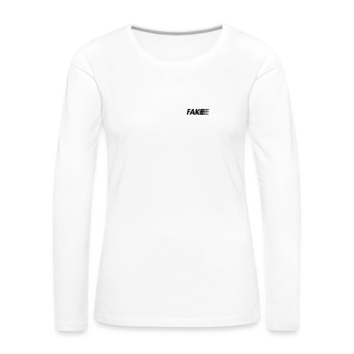 fake logo corruped - Maglietta Premium a manica lunga da donna