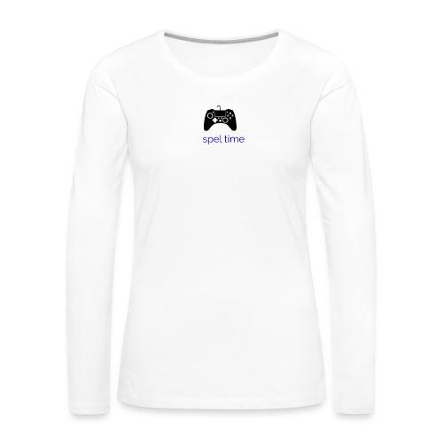 spel time - Långärmad premium-T-shirt dam