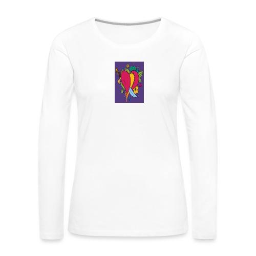 Cuore - Maglietta Premium a manica lunga da donna