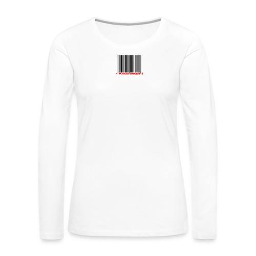 Codebar : You are unique - T-shirt manches longues Premium Femme