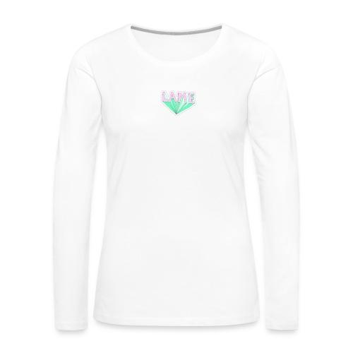 LAME tshirt - Dame premium T-shirt med lange ærmer