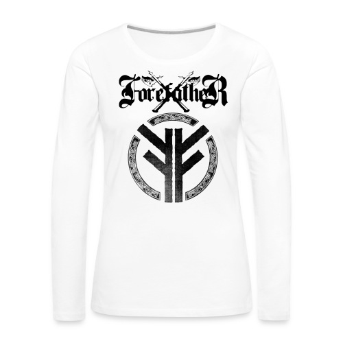 Forefather logo and symbol black - Women's Premium Longsleeve Shirt