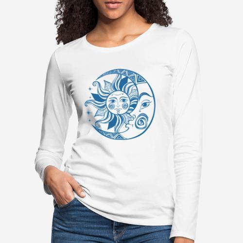 Sonnenmond Astrologie - Frauen Premium Langarmshirt