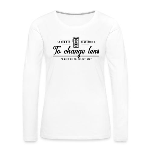 photography - Koszulka damska Premium z długim rękawem
