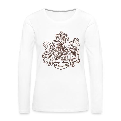 Wappen monochrom - Frauen Premium Langarmshirt