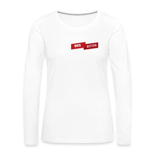 Vies Bitter - Vrouwen Premium shirt met lange mouwen