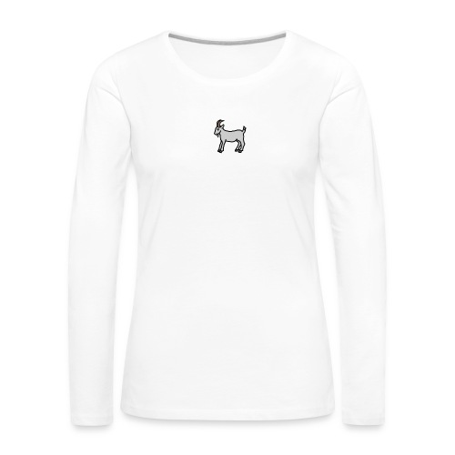 Ged T-shirt herre - Dame premium T-shirt med lange ærmer