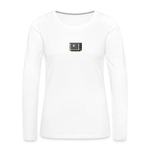 la télé - T-shirt manches longues Premium Femme