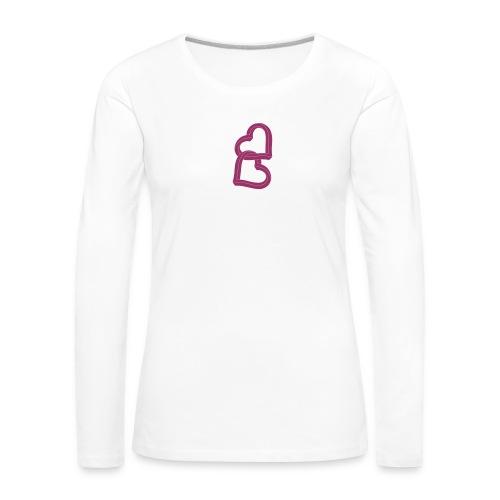 Due cuori uniti ca27 - Maglietta Premium a manica lunga da donna