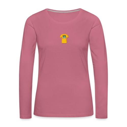 Castle design - Dame premium T-shirt med lange ærmer