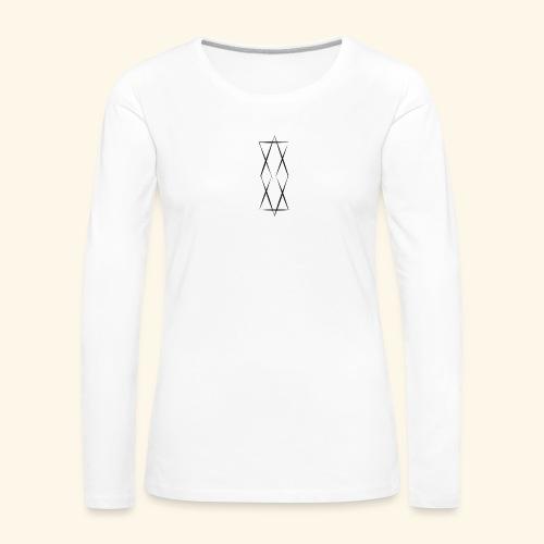 Jamior Logo Schwarz - Frauen Premium Langarmshirt