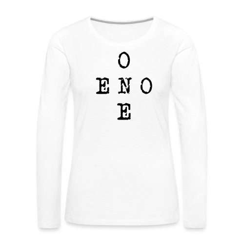 eno/one - Naisten premium pitkähihainen t-paita