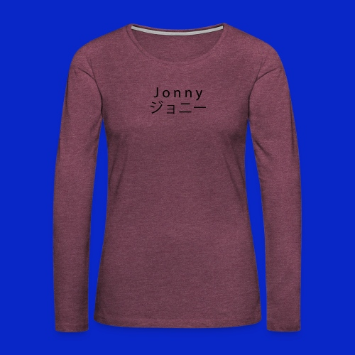 J o n n y (black) - Women's Premium Longsleeve Shirt