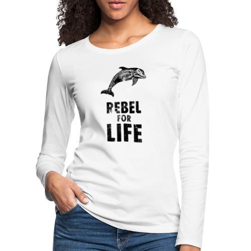 extinction rebellion just rebel - Frauen Premium Langarmshirt