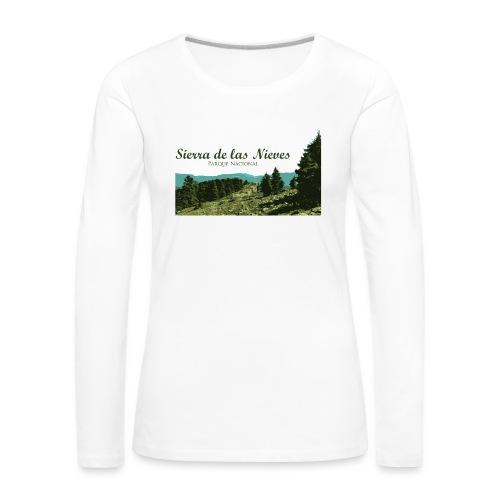 Sierra de las Nieves Parque Nacional - Camiseta de manga larga premium mujer