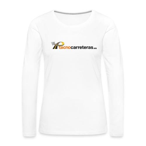 Tecnocarreteras - Camiseta de manga larga premium mujer