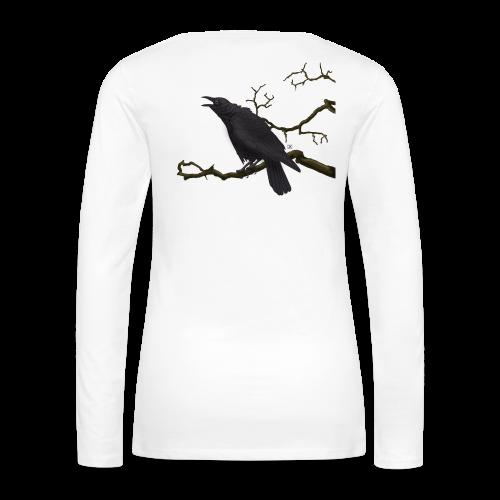 Cuervo negro - Camiseta de manga larga premium mujer