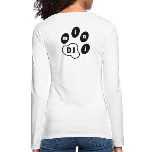 DJMini Logo - Dame premium T-shirt med lange ærmer