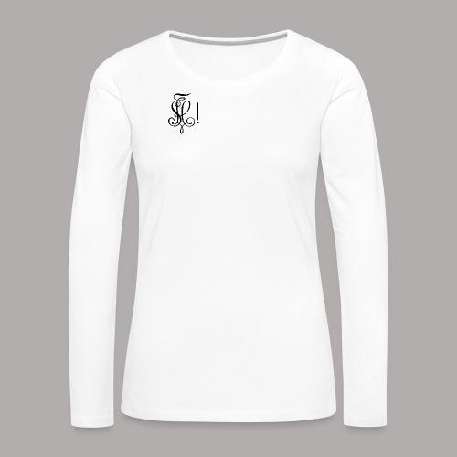 Zirkel, schwarz (vorne) Zirkel, schwarz (hinten) - Frauen Premium Langarmshirt
