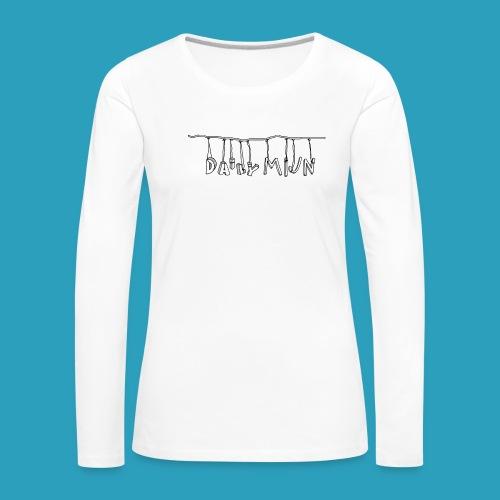 opnieuw png - Vrouwen Premium shirt met lange mouwen