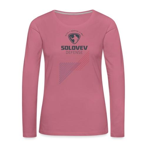 SD EMA back grey - Frauen Premium Langarmshirt