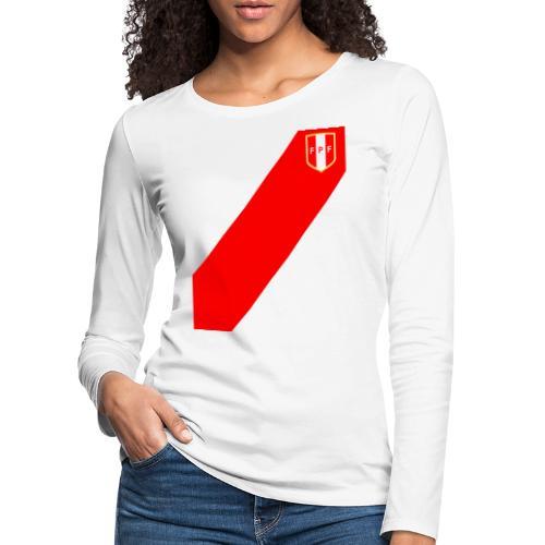 Seleccion peruana de futbol (Recto-verso) - Frauen Premium Langarmshirt