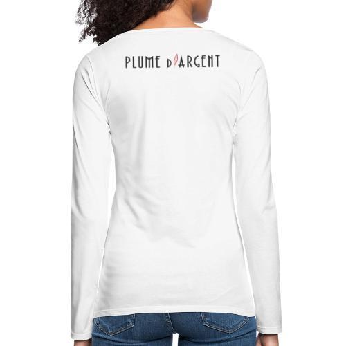 Logo - Texte noir (dos) - T-shirt manches longues Premium Femme