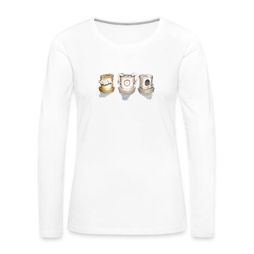 see no evil ver.0.3 Rasmus Balstrøm - Dame premium T-shirt med lange ærmer