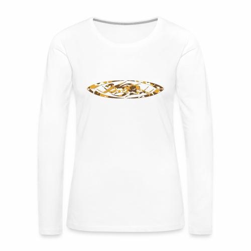 2wear original logo cammo orange - Dame premium T-shirt med lange ærmer
