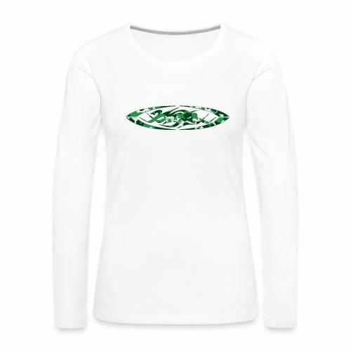 2wear original logo cammo green - Dame premium T-shirt med lange ærmer