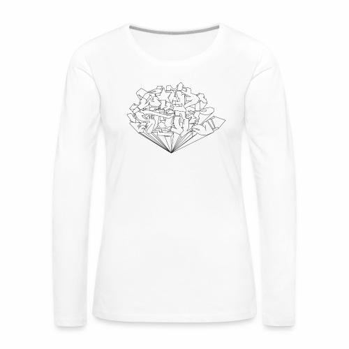wild style ver01 Trick Aod - Dame premium T-shirt med lange ærmer