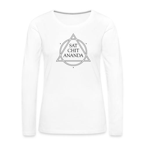 SAT CHIT ANANDA vector - Frauen Premium Langarmshirt