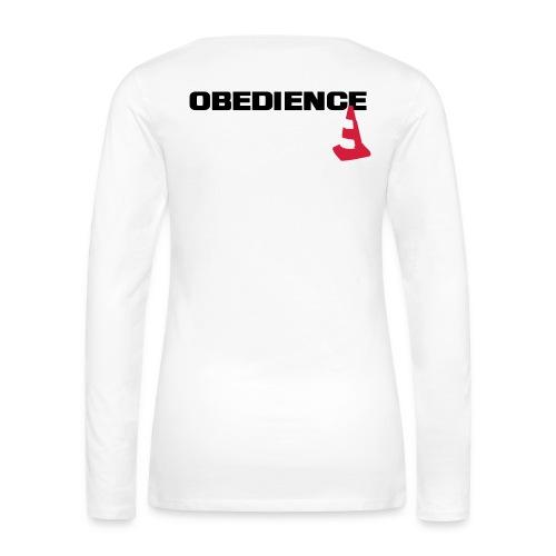 Obedience mit Pylone - Frauen Premium Langarmshirt