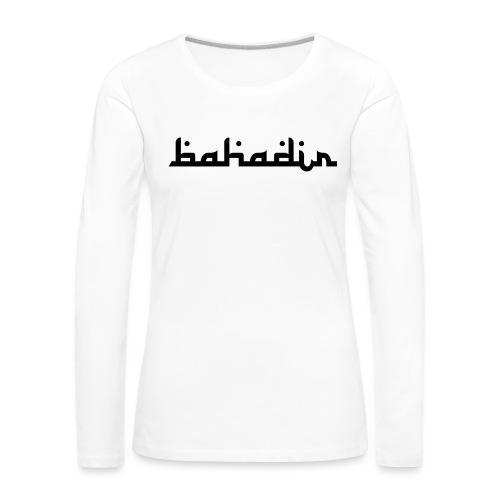 bahadir logo1 png - Frauen Premium Langarmshirt