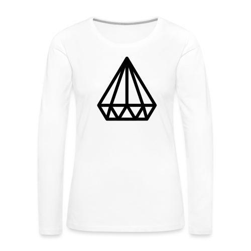 Dropchainers T-Shirt V Auschnitt - Frauen Premium Langarmshirt