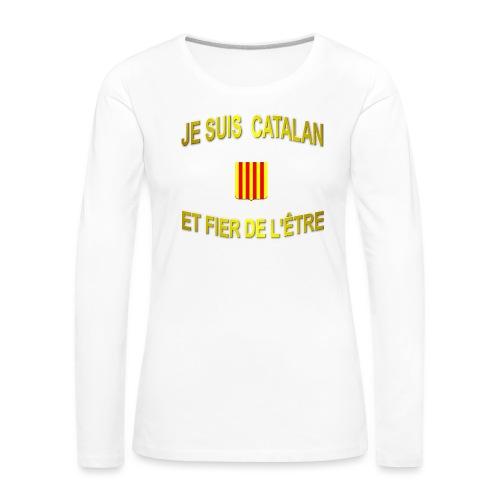 Tee-Shirt supporter du pays CATALAN - T-shirt manches longues Premium Femme