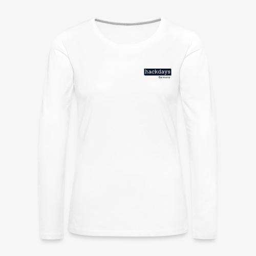 Hackdays Germany - Blue Logo - Women's Premium Longsleeve Shirt