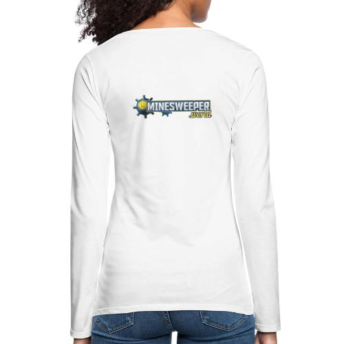 Minesweeper.World Logo mit Icon // 2 Druckbereiche - Frauen Premium Langarmshirt