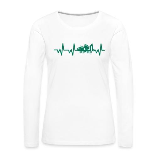 Forst | Herzschlag - Frauen Premium Langarmshirt