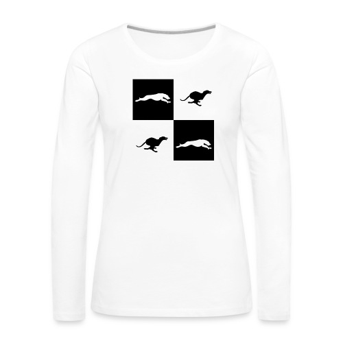 whippetsquares2 png - Women's Premium Longsleeve Shirt