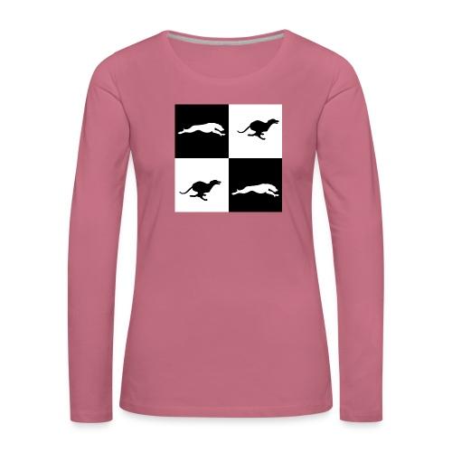 whippetsquares2 png - Women's Premium Longsleeve Shirt