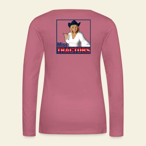 Miss Tractors Logo - Maglietta Premium a manica lunga da donna
